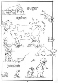 Colouring page example